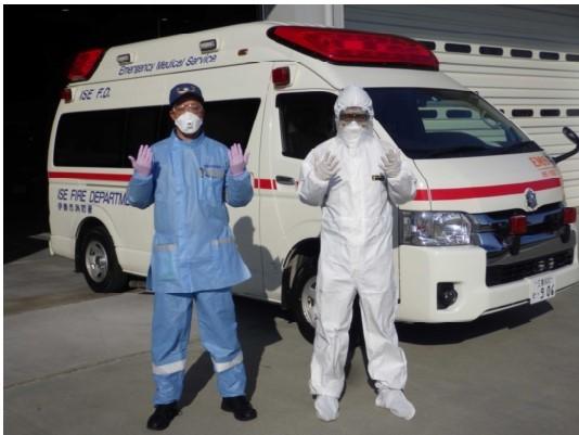 救急隊員感染防止装備